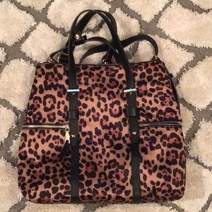INC convertible backpack Leopard